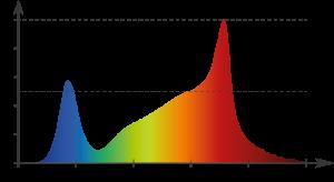 Graph mit eingetragenem Spektrum