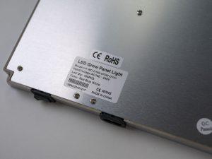 Das CE-Kennzeichen auf der LED-Pflanzenlampe von Toplanet ist gefälscht.