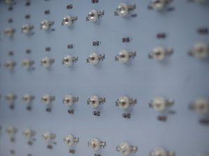 Die Platine mit den LED der WYZM LED Pflanzenlampe 600W LED.