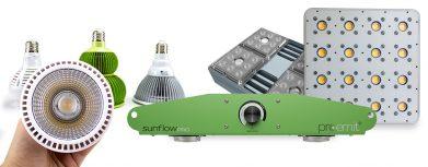 Vergleich von Pflanzenlampen LED Grow